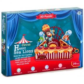 Puzzle 3d leones marinos